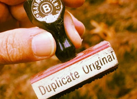 duplicate original stamp