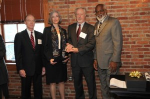 Kathryn Goldman and Tom Minton receive Champion of Justice Award
