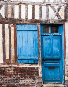 Blue Door, Honfleur, France