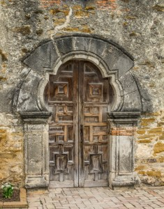 Mission Door, San Antonia Texas