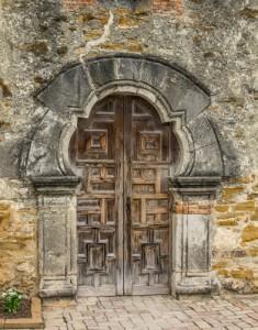 Mission Door, San Antonia Texas