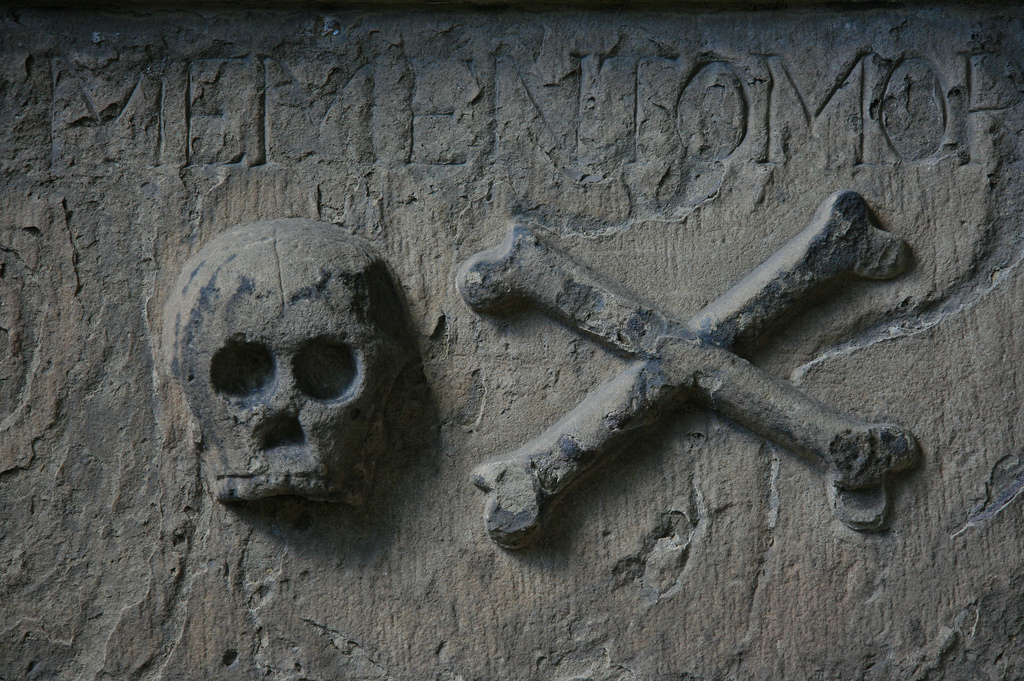 pirate skull with crossed bones